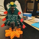 A Christmas-tree PCB Ornament