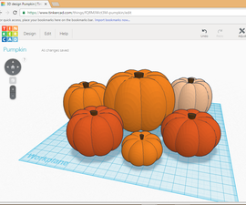 Design a Pumpkin in Tinkercad