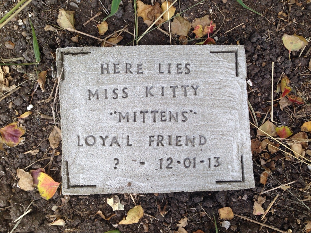 Diy Pet Tombstone Memorial Stone 5 Steps With Pictures Instructables