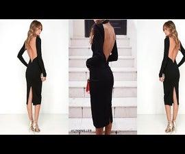 DIY Fashion : OPEN BACK DRESS   TRUDY_LIMP