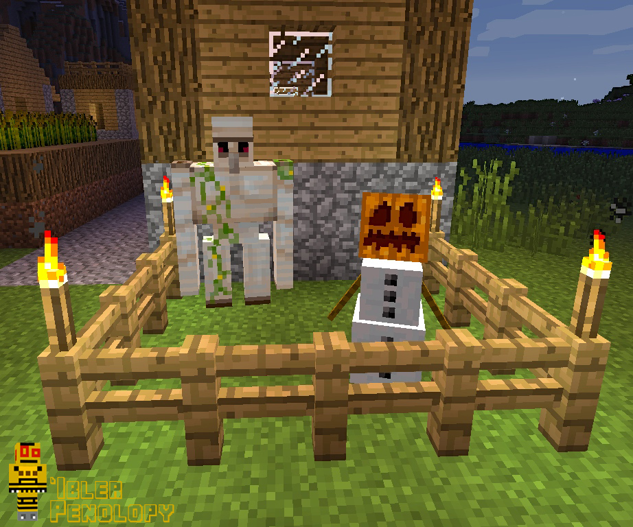 Picture of Making Golems in Minecraft