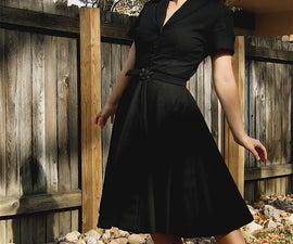 New Look Dress in Wool Crepe