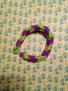 Fishtail- Green and Purple