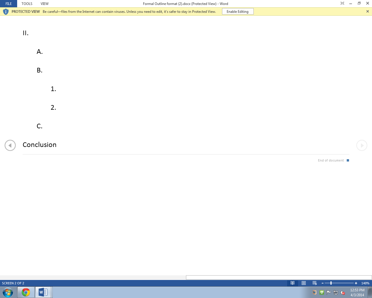 Picture of Make an Outline to Form a Slide Show Layout