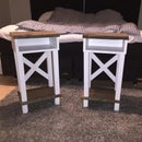 Bedside Table with Trestle