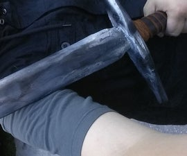 Wooden Sword, Painting and Handle Finish
