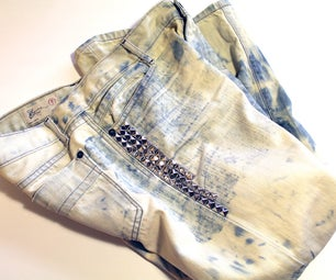 DIY Crush Bleached Jeans