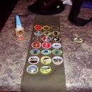 Use Gorilla Glue on you Merit Badge sash
