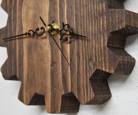 Wooden Gear Wall Clock