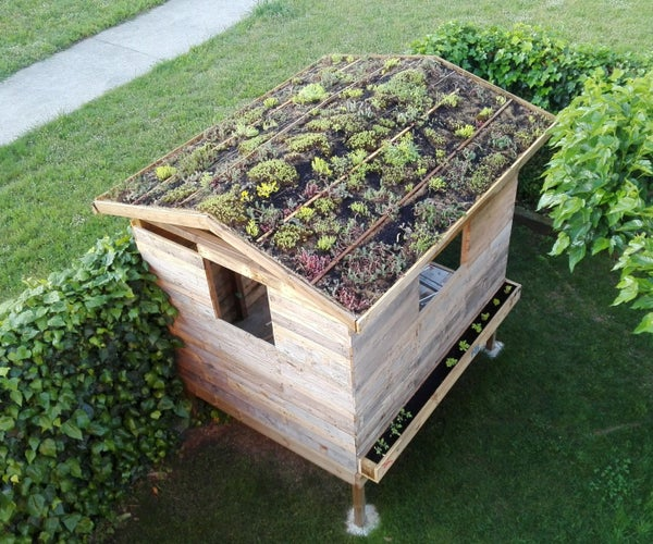Green Roof for a Tiny Wooden House