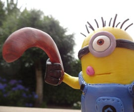 Minion from polymer clay