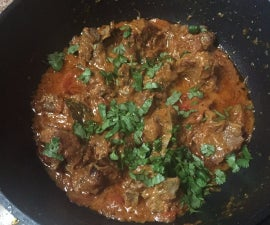 Mutton Mughal Karahi ( cooked in wok)
