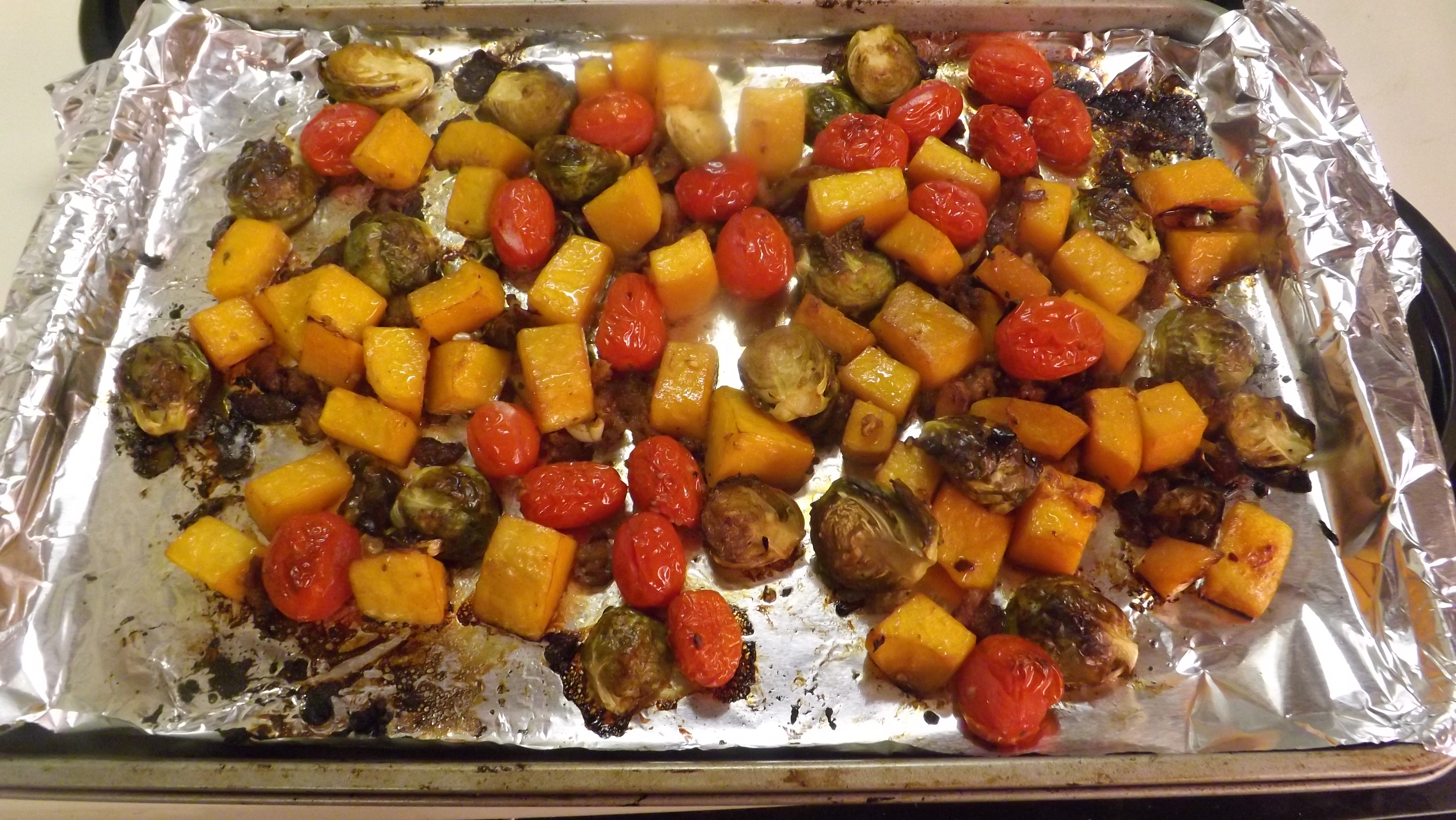 Picture of BALSAMIC ROASTED BRUSSELS SPROUTS, BUTTERNUT SQUASH & GRAPE TOMATOES