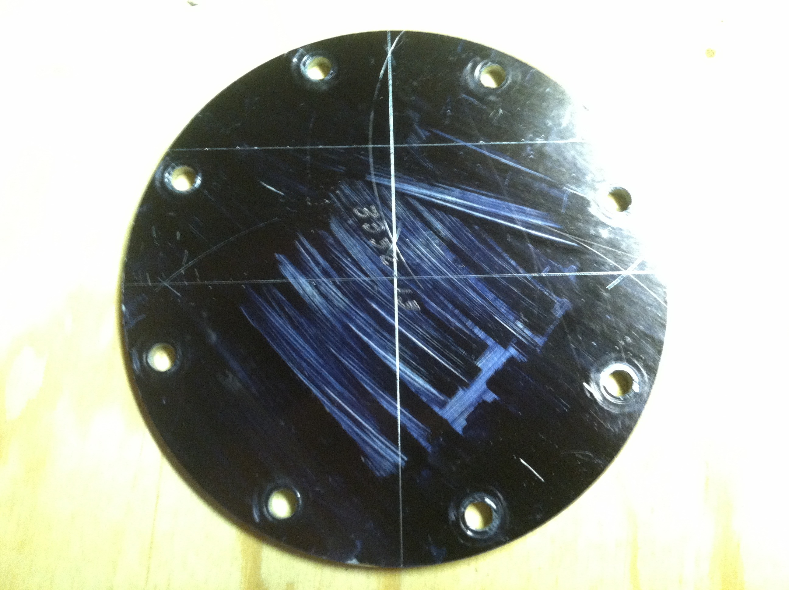 Picture of Bisect Your New Line, Finding the Center of the Circle.