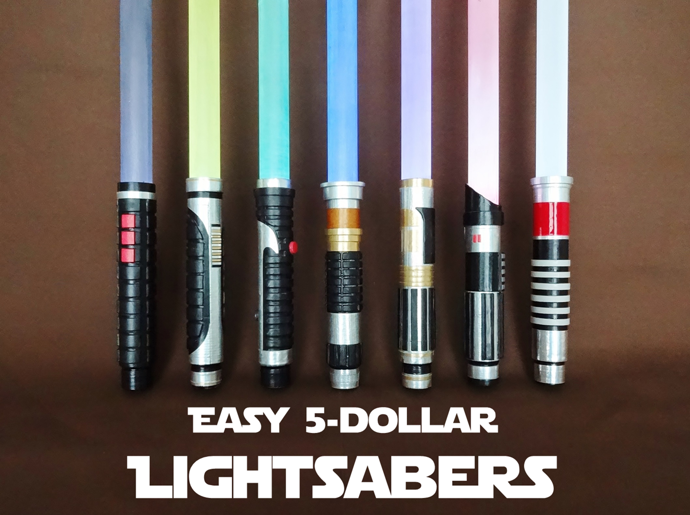 Picture of Easy $5 Lightsabers
