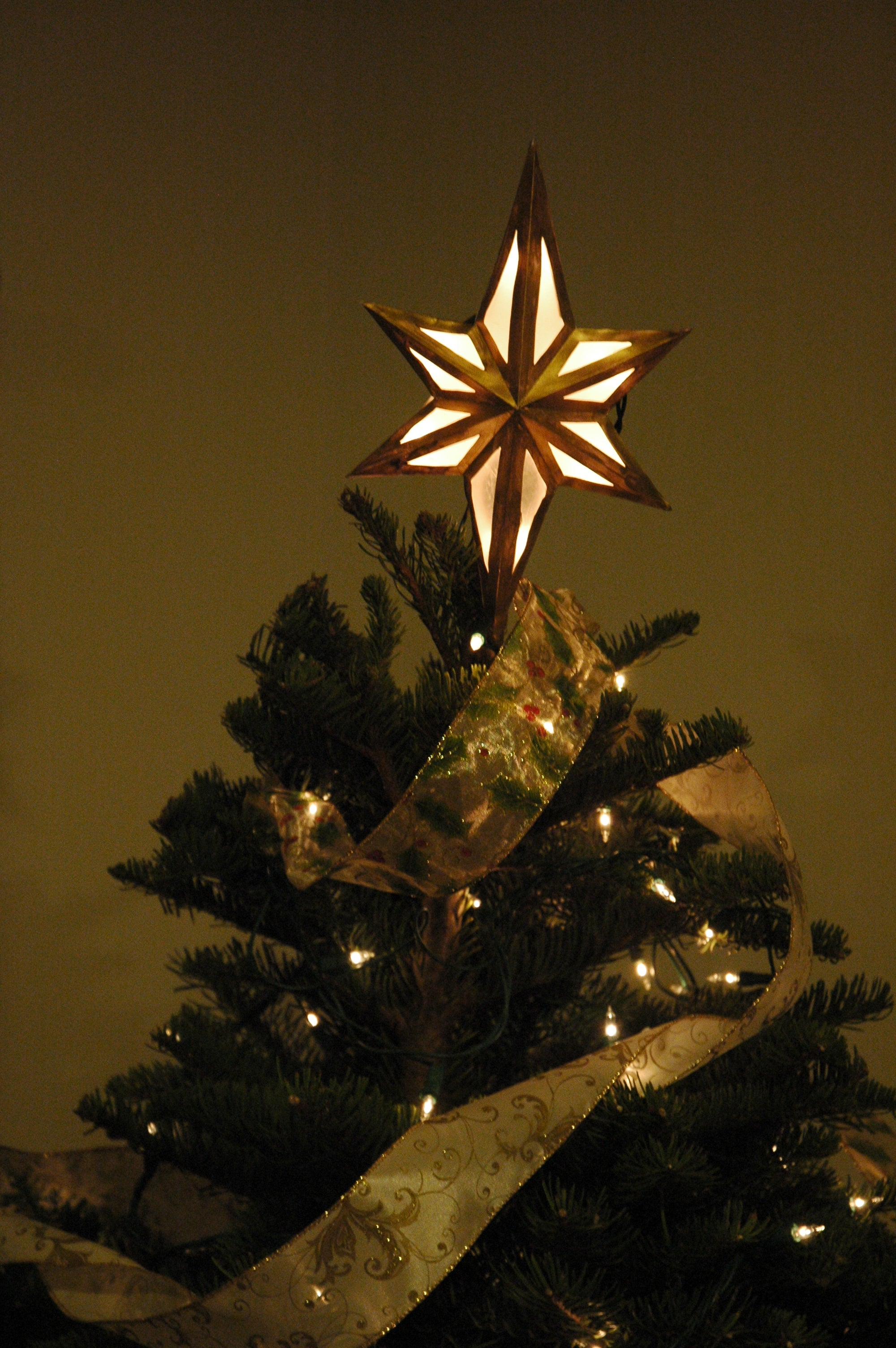 Lighted Bethlehem Star Tree Topper 10 Steps With Pictures Christmas Lights On A T Question