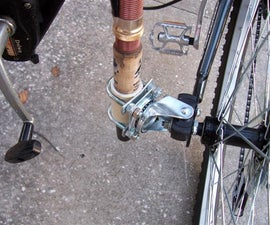 Bicycle Trailer Hitch and Fishing Rod Holder Combo