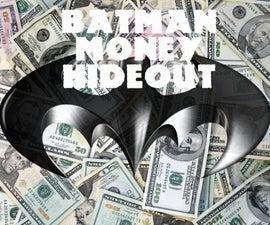 BATMAN MONEY HIDEOUT paper plane