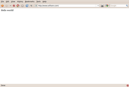 Trial Setup of Virtual Hosts. (One Web Server With Many Sites)