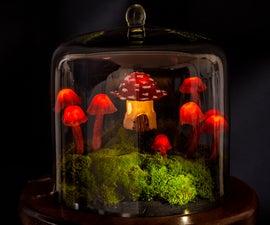 Miniature Fairy Garden Terrarium - Enchanted Mushroom Lights