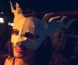 Halloween Papercraft Mask Template, by Paperpetshop
