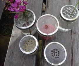 Mason jar lid inserts - 5 designs (dragonfly wing inspired)