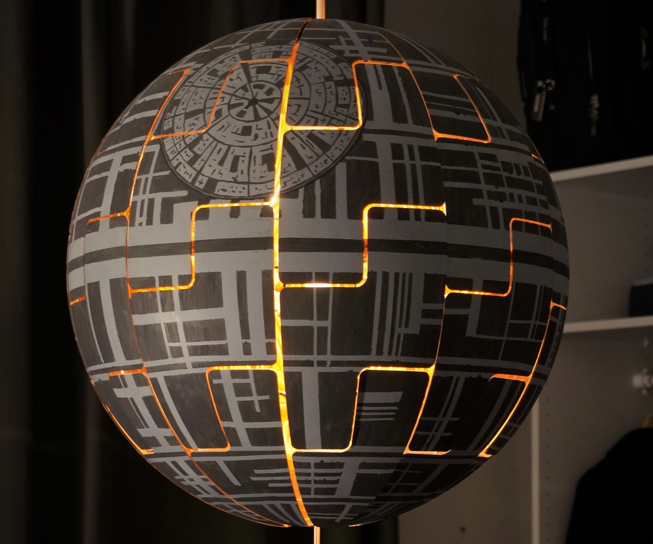 ikea ps 2014 death star lamp 4 steps with pictures. Black Bedroom Furniture Sets. Home Design Ideas