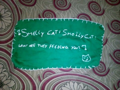 F.R.I.E.N.D.S   Inspired Smelly Cat Embroidered  Handkerchief