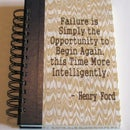 Recycled Journal with Etched Quote from Henry Ford