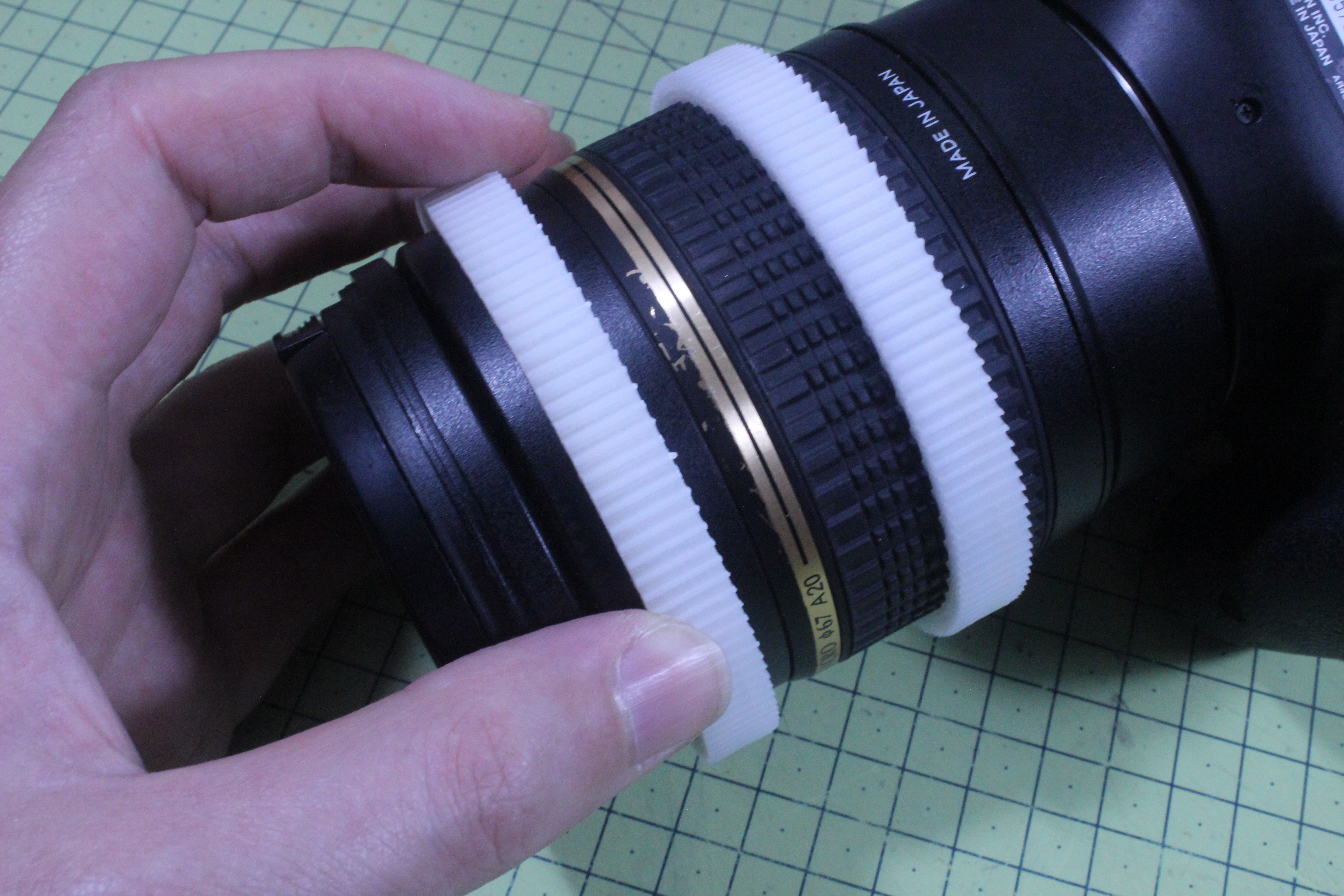 Picture of Fitting the Lens Rings