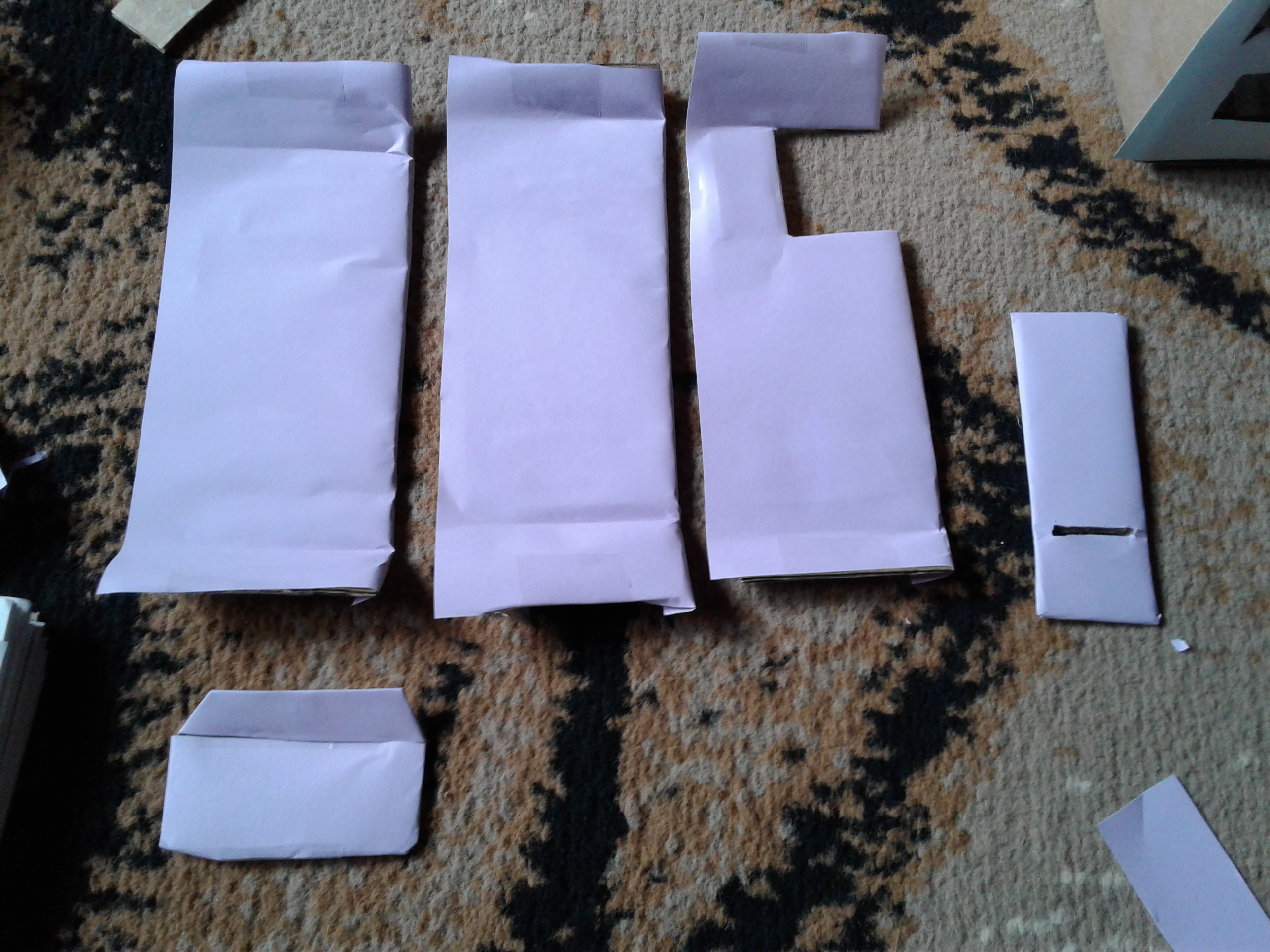 Picture of Covering Pieces With Paper (decoration Continued)