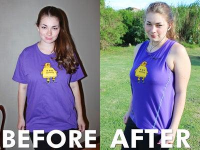 Convert an Oversized T-shirt Into a Workout Tank (With Pocket!)