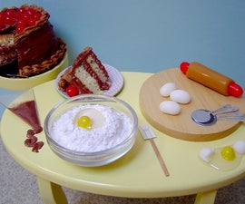 Miniature Edible Baking Scene