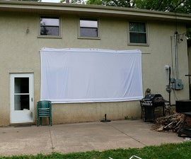 How to sew a backyard drive-in movie screen