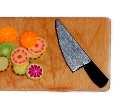 Miniature Knives and Chopping Board DIY