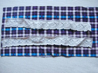 Lace in the Middle Location. Because Cuff Don't Need That Big, So Cut Off Extra Place for Lace.