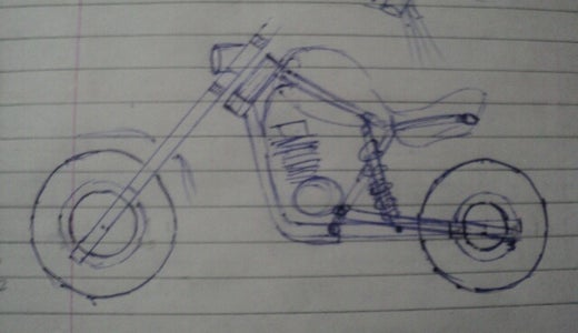Sketch Basic Structure of Bike