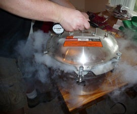 Carbonating fruit with dry ice and a pressure cooker