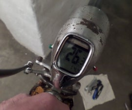 Fit a digital speedo and LED lighting into a vintage bicycle speedometer lamp