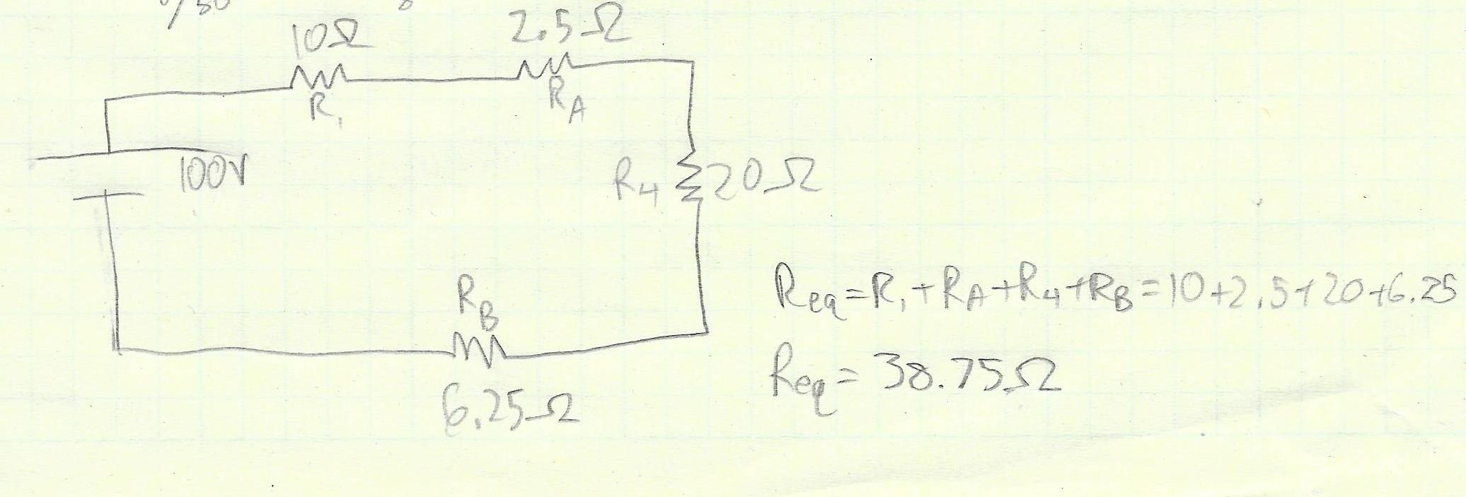 Picture of Repeat Steps 2 and 3 Until One Equivalent Resistor Remains