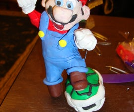 Super Mario Brothers Polymer Clay Sculpture