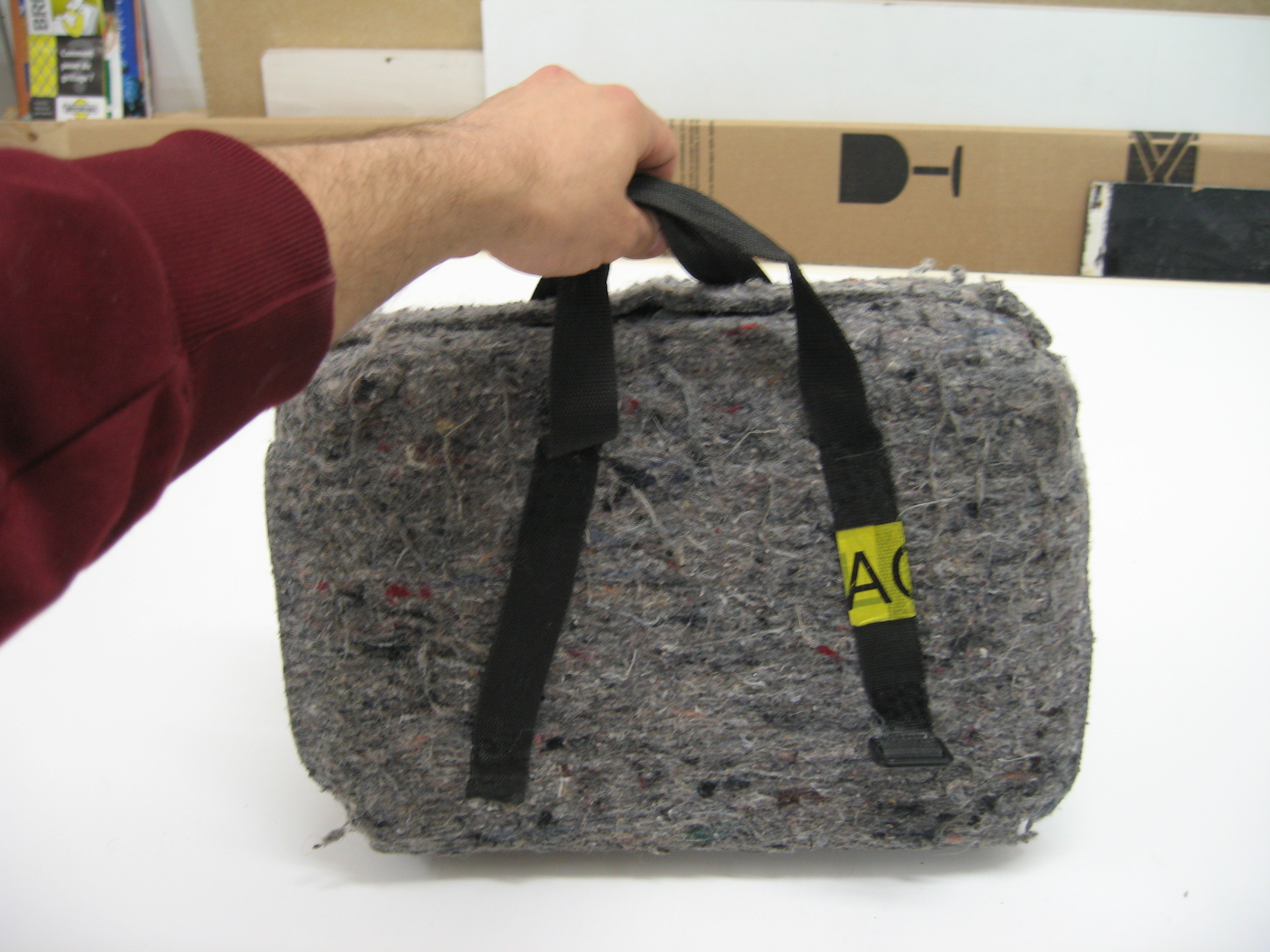 Picture of Laptop Cheap Strong Travel Case, Homeless Style - Expensive Content