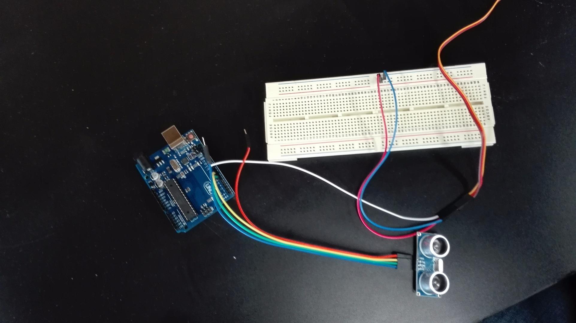 Picture of Conectar El Sensor Ultrasonico Al Arduino