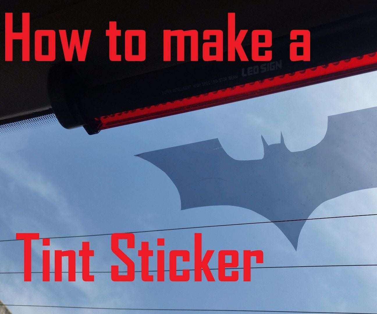 How to make car windows tint stickers 5 steps