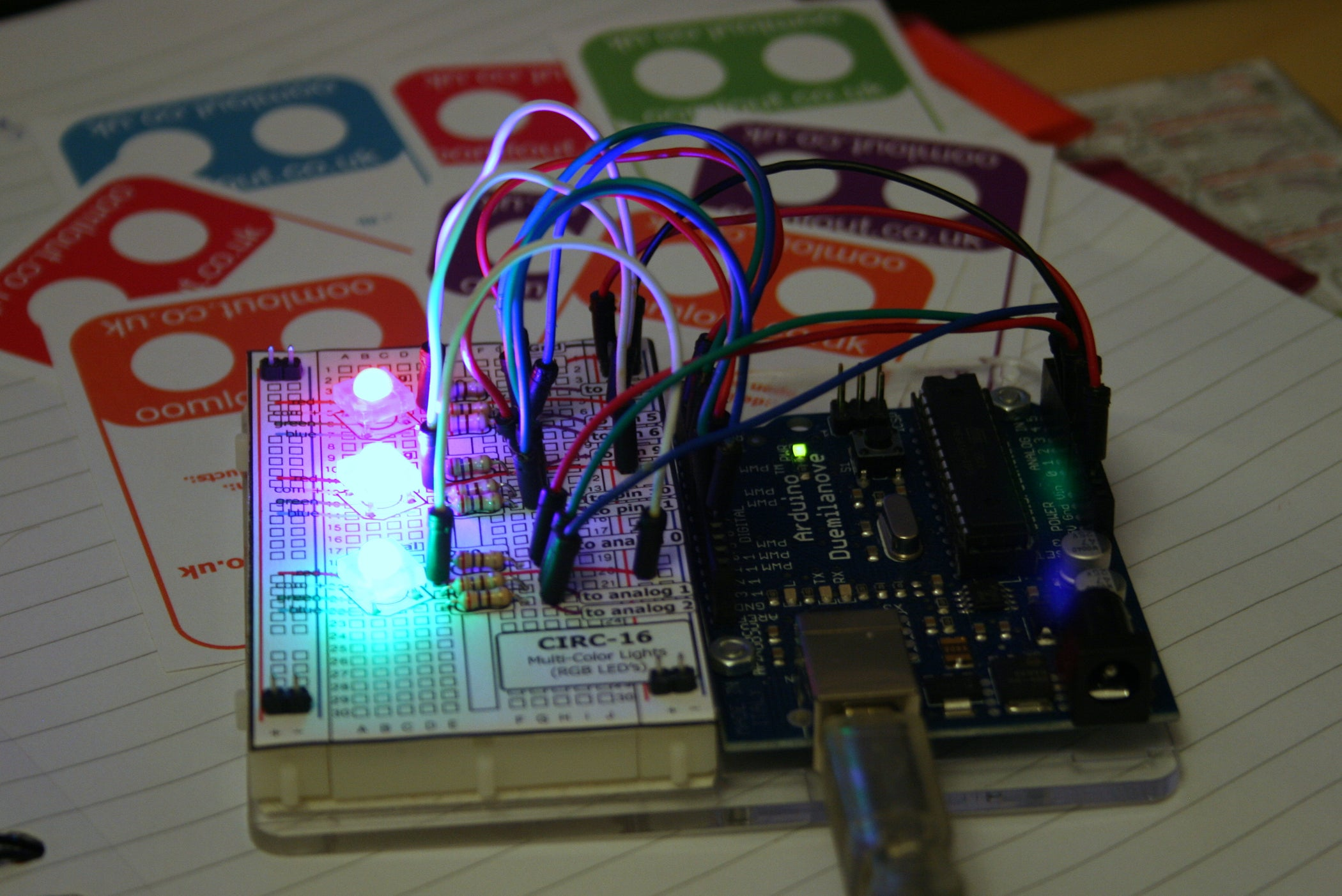 Rgb Led Tutorial Using An Arduino Rgbl 6 Steps With Pictures Tri Color Circuit New Driver