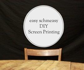 DIY screen printing