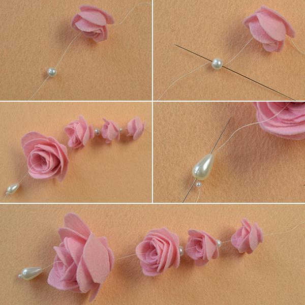 Picture of Make Felt Rose Dangles