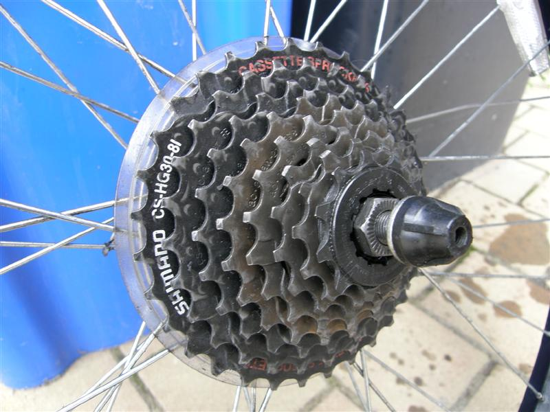 Picture of The Rear Sprocket Set.