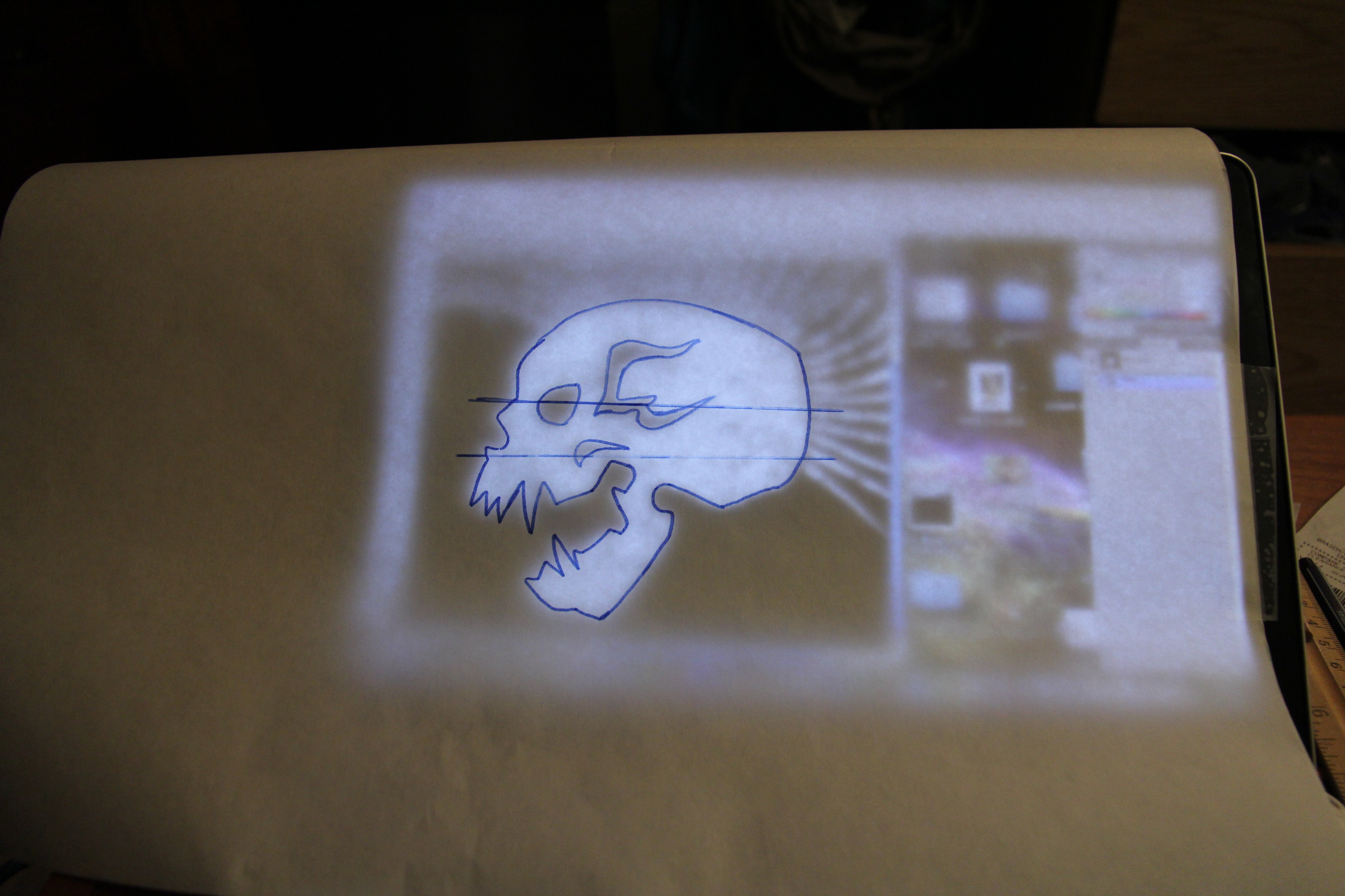 Picture of Bleached Skull Stencil- Tracing the Image