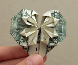 DIY Origami Money Heart
